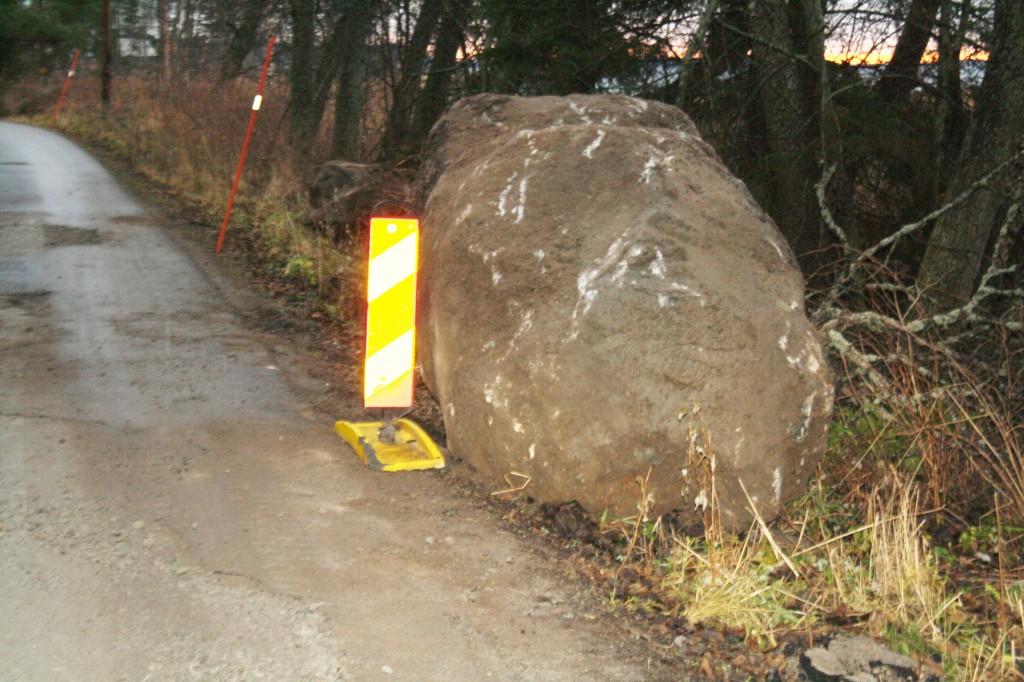 stenplockningen av Skålbovägen