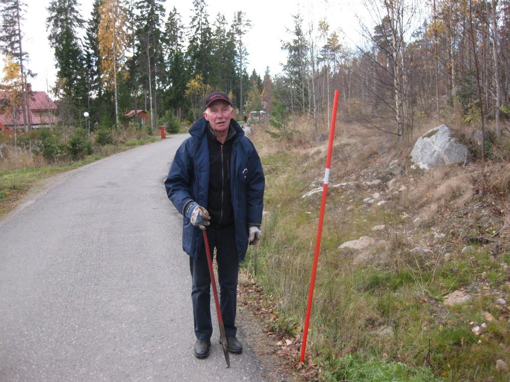 Åke Bäckström med Plogpinne